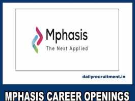 Mphasis Career Openings 2018