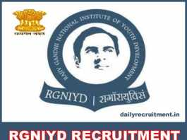 RGNIYD Recruitment 2018