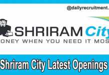 Shriram City Current Openings