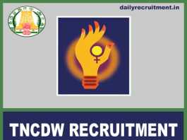 TNCDW Recruitment 2018