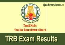 TRB Exam Results 2018