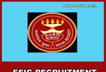 ESIC Recruitment 2019