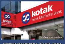 Kotak Mahindra Bank Jobs 2018