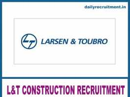L&T Construction Recruitment 2019