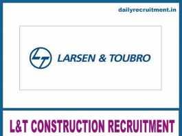 L&T Construction Recruitment 2020