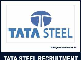 TATA Steel Recruitment 2018