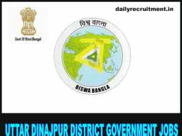 Uttar Dinajpur District Government Jobs 2018