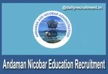 Andaman Nicobar Education Recruitment 2018
