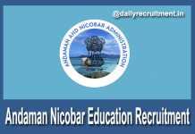Andaman Nicobar Education Recruitment 2018