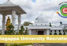Alagappa University Recruitment 2020