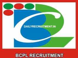 BCPL Recruitment 2019
