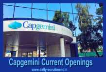 Capgemini Current Openings