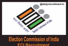 Election Commission of India Recruitment 2018