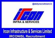 IRCONISL Recruitment 2019