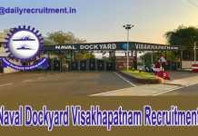 Naval Dockyard Visakhapatnam Recruitment 2018