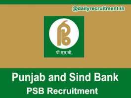 Punjab and Sind Bank Recruitment 2018