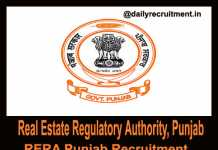 RERA Punjab Recruitment 2018