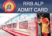 RRB ALP Admit Card 2019