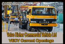 VECV Current Openings 2020