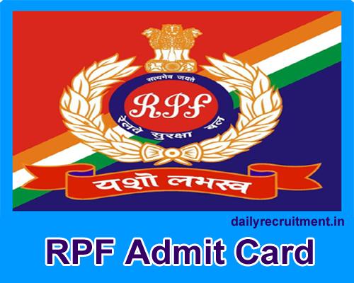 RPF Admit Card 2019
