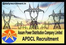 APDCL Recruitment 2018