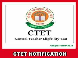 CTET Notification 2019
