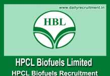 HPCL Biofuels Recruitment 2018