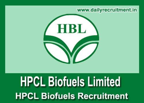 HPCL Biofuels Recruitment 2020