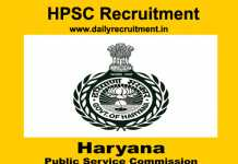 HPSC Recruitment 2019