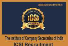 ICSI Recruitment 2019