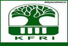 KFRI Recruitment 2019