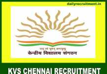 KVS Chennai Recruitment