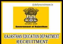 Rajasthan Education Department Recruitment 2019