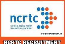 NCRTC Recruitment 2019