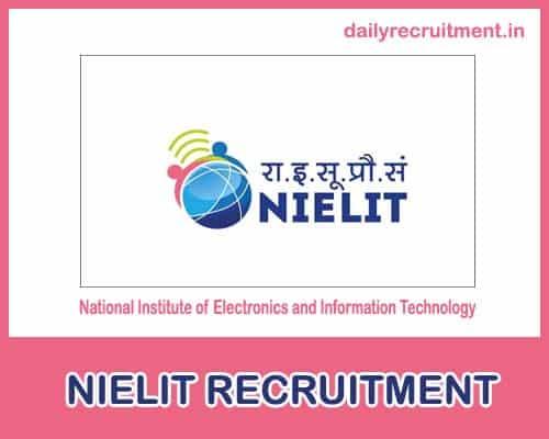 NIELIT Recruitment 2021