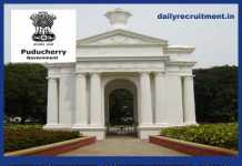 Puducherry Government Jobs 2018