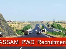 Assam Pwd Recruitment 2018