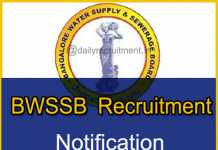 BWSSB Recruitment 2018