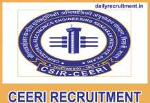 CEERI Recruitment 2018