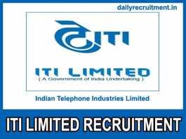 ITI Limited Recruitment 2019