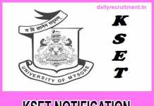 KSET 2018 Notification