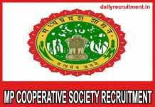 MP Cooperative Society Recruitment 2018