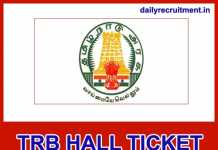TRB Hall Ticket 2018