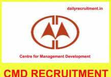 CMD Kerala Recruitment 2018