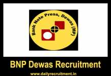BNP Dewas Recruitment 2018