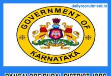 Bangalore Rural District Jobs 2018