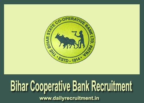 Bihar Cooperative Bank Recruitment 2018