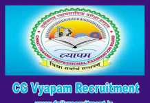 CG Vyapam Recruitment 2019