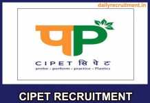 CIPET Recruitment 2018