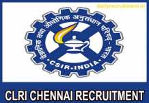 CLRI Chennai Recruitment 2018